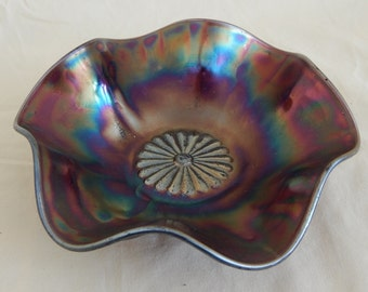 Vintage Fenton Carnival Glass Candy Dish from the 1920s
