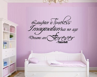 Laughter is Timeless #2 ~ Tinkerbell,Wall Decal