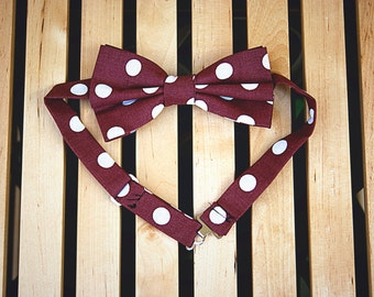 Red Pois Bow Tie