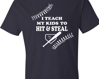 Hit & Steal Baseball - Mens Tee