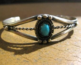 Silver & Turquoise Bracelet