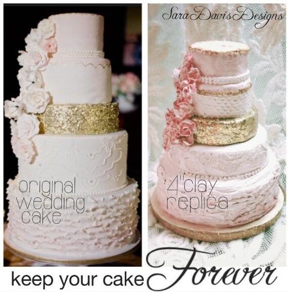 Wedding Cake Replica, Wedding Cake Ornament, 1st