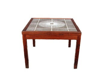 Danish Rosewood and Tile Coffee Table 1970's