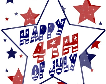 INSTANT: 4th of July Digital Image for Iron on Transfers
