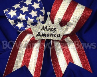 Miss America Cheer Bow