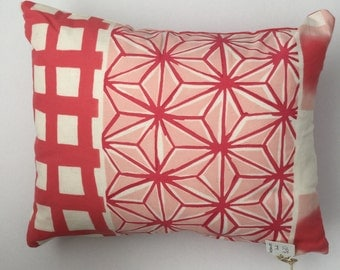 pinks and patterns cushion cover