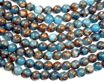 Mosaic Stone Beads, Round, 8mm(8.5mm), 15.5 Inch, Full strand, Approx 48 beads, Hole 1 mm (327054012)