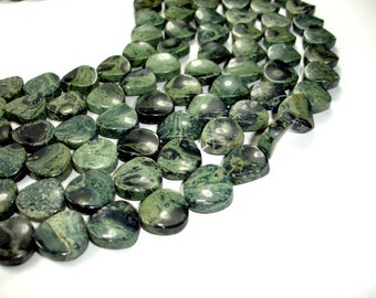 Kambaba Jasper Beads, Twisted Coin, 16mm, 15 Inch, Full strand, Approx 24 beads, Hole 1 mm (290073001)