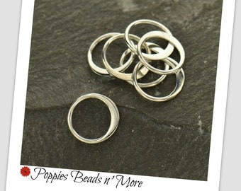 Extra-Small Sterling Silver Circle Link - Wholesale - 10 pieces