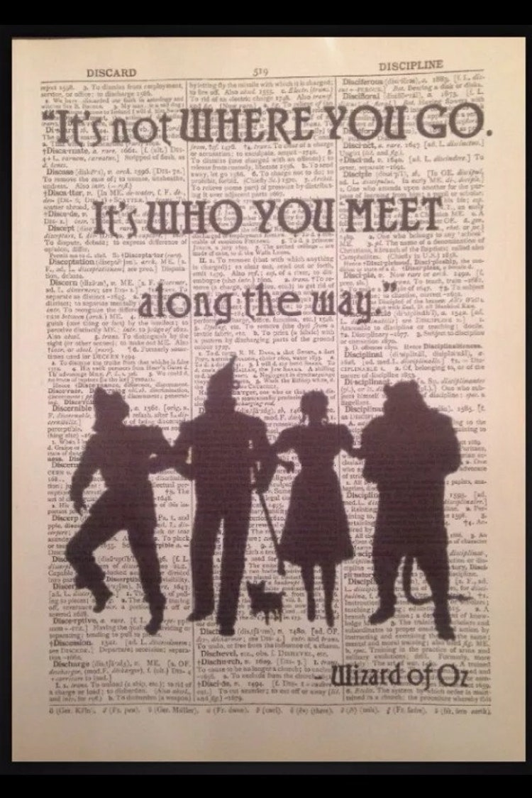 Wizard Of Oz Dorothy Tin Man Print Original By Parksmoonprints