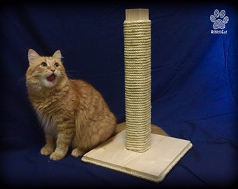 SCRATCH - Wooden scratching post - Furniture for cats