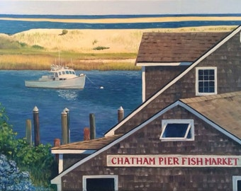 Fine Art Print - Chatham Fish Pier - Cape Cod, summer, lobster