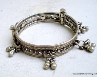 tribal bellydance jewelry old silver bracelet bangle vintage antique