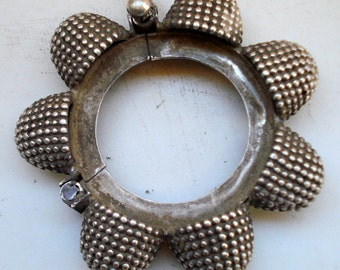 vintage antique ethnic collectible tribal old silver bangle bracelet india