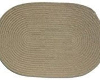 JB Moss Heather 8' Round Braided Rug