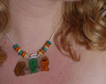 Harry Potter collar/necklace (Golden trio)