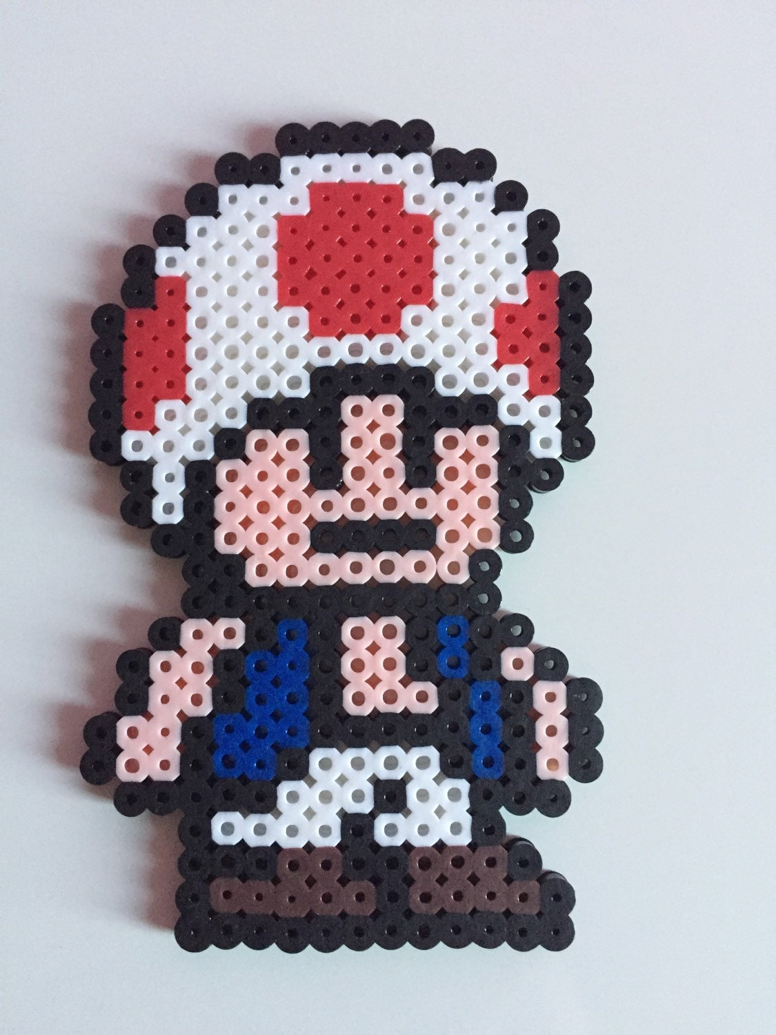 super mario bros toad perler bead. Black Bedroom Furniture Sets. Home Design Ideas