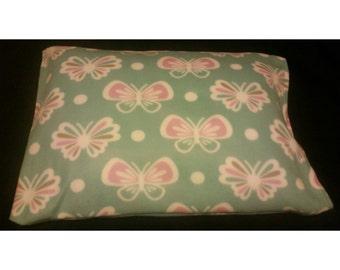 Butterfly Fleece Pillowcase, Girls Pillowcase, Adult Pillowcase, Plush Pillowcase, Fleece Pillowcase, Pillowcase, Soft Pillowcase
