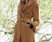 Wrap Coat with Hood