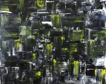 Modern  abstract painting . ABSTRKT No 521