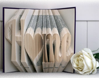 "Book Folding Pattern ""Home"" + FREE Tutorial"