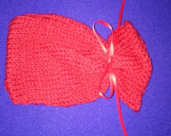 Hand knitted soap bags