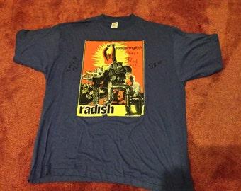 Radish - Restraining Bolt European Tour 1997 T Shirt - Size XL Ben Kweller