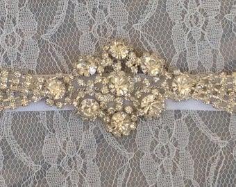 Kaia; bridal headband, bridal accessories, rhinestone headband, bohemian headband