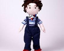 Handmade, soft doll, Diego