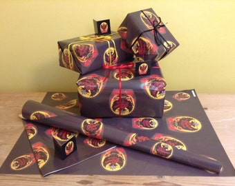 French Gift Wrap and Small Gift Tag (WHOLESALE PRICING)