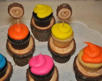 rustic cupcake stands, individual cupcake stands, country wedding, outdoor wedding, barn Wedding, dessert buffet, rustic wedding