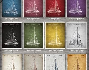 Sail Boat poster, Sail Boat patent, Sail Boat print, Sail Boat Art, Sail Boat Wall Decor no40