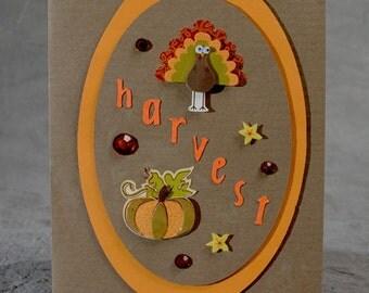 Handmade Harvest Thanksgiving Card