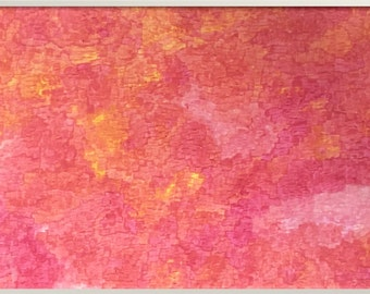 Coral abstract painting