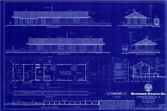 1904 Southern Pacific Railroad Depot Tehachapi California