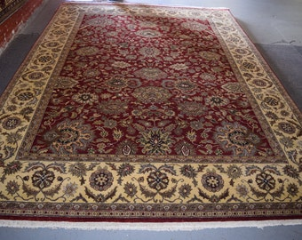 Stunning hand knotted jaipur indian rug