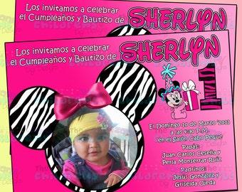 Minnie Birthday Invitation 2