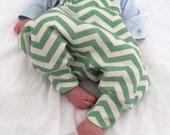 Harem pants chevron mint ivory stylish baby clothes hipster baby clothes organic baby clothes baby clothing baby pants cute stripy