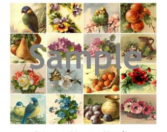 Catherine Klein Vintage Images Collage Sheet 8.5 x 11 Printed Sheet