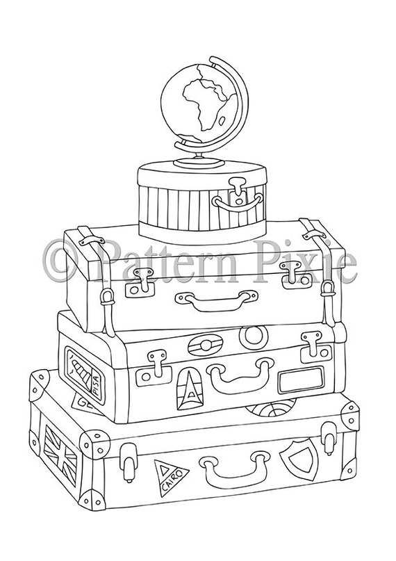Vaction Tumblr Coloring Pages