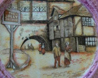 Set of 2 Antique Hanley English Ware Plates