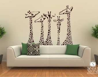 Nice Nursery Giraffe Wall Decals   Giraffe Family Wall Stickers Custom Home Decor Part 7
