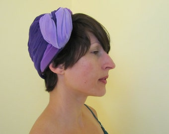 Purple Velvet Vintage Women's Hat