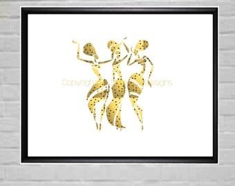 Gold Wall Art - Gold Wall Decor - Gold Foil wall Art - Large Wall art - Large Gold Wall Art - Gold Wall Prints