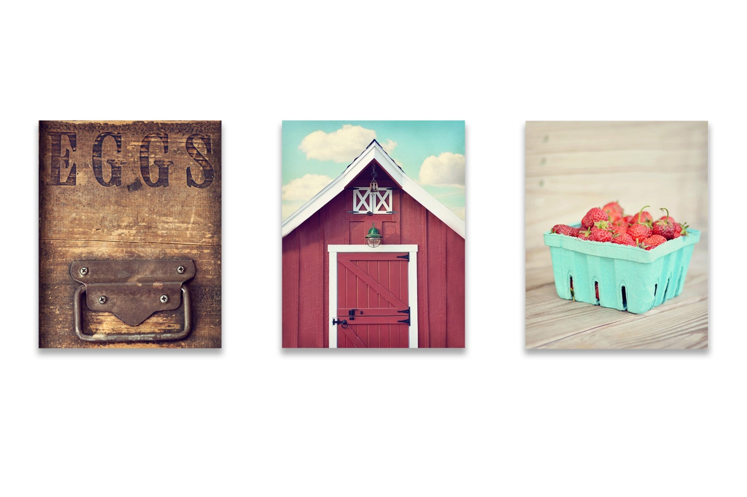 Wall Decor For Rustic Kitchen : Kitchen wall art rustic decor set of by