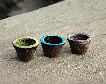 Fairy Gardening Pots, Miniature Pots, Fairy Garden, Collection, Clay, Fairy Dust, Flower Pot, Small Fairy Pot, Vintage Fairy Pot