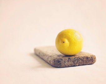 Lemon on drift wood, Fine art Food photography Fresh juicy Lemons on drift wood, Kitchen wall art, Home Decor
