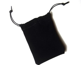 Black velvet pouch 100x120 mm pack of 10