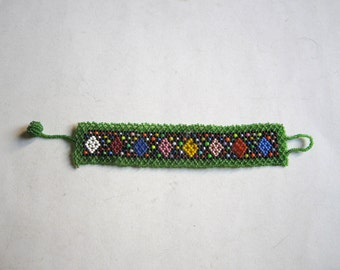 vintage beadwork bracelet