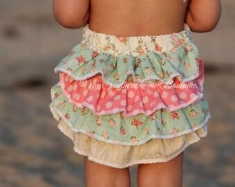 Vintage Bubble Romper- Baby Girl Romper- Tea Party Romper- Sun suit
